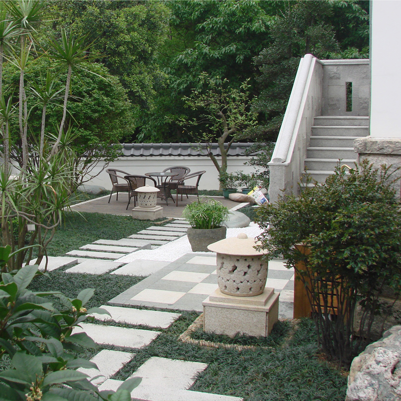 私人会所屋顶花园竣工效果展示
